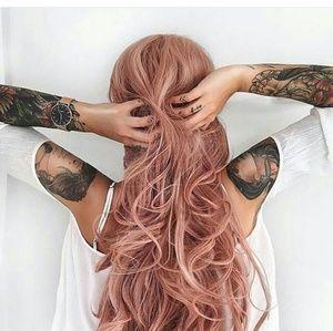 Pink Orange Lace Front Wig